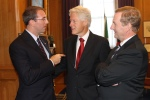 Leading Cities CEO Mike Lake speaks with former President Bill Clinton and Irish Prime Minister Enda Kenny during the 2013 Exchange Mission in Dublin - October 2013