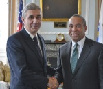 Massachusetts Governor Deval Patrick and Portuguese Ambassador Nuno Britto