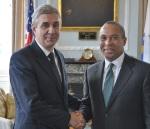 Massachusetts Governor Deval Patrick and Portuguese Ambassador Nuno Britto