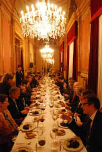 Delegates dine with US Ambassador Alan Solomont in Madrid - November 2011