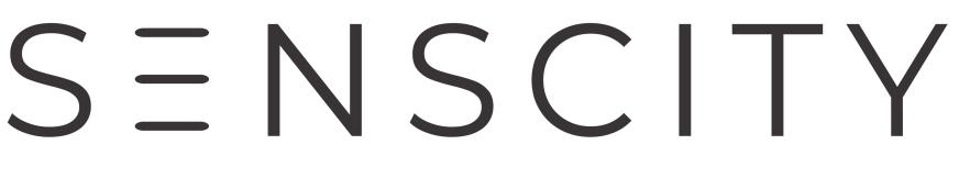Senscity logo black